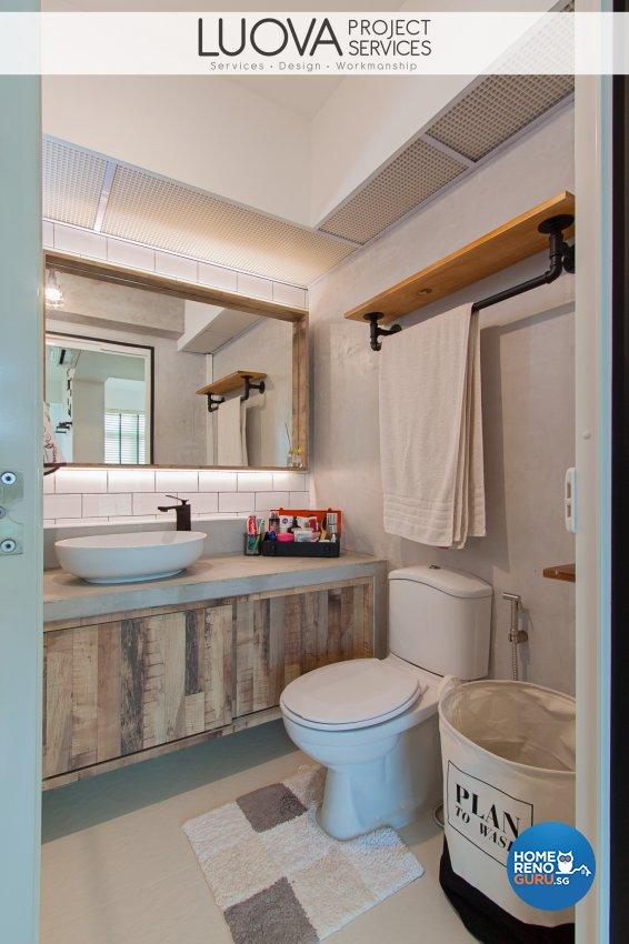 Industrial, Scandinavian Design - Bathroom - HDB 4 Room - Design by Luova Project Services