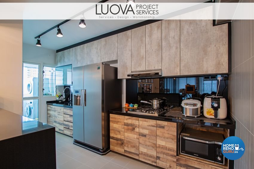 Industrial, Rustic, Scandinavian Design - Kitchen - HDB 5 Room - Design by Luova Project Services