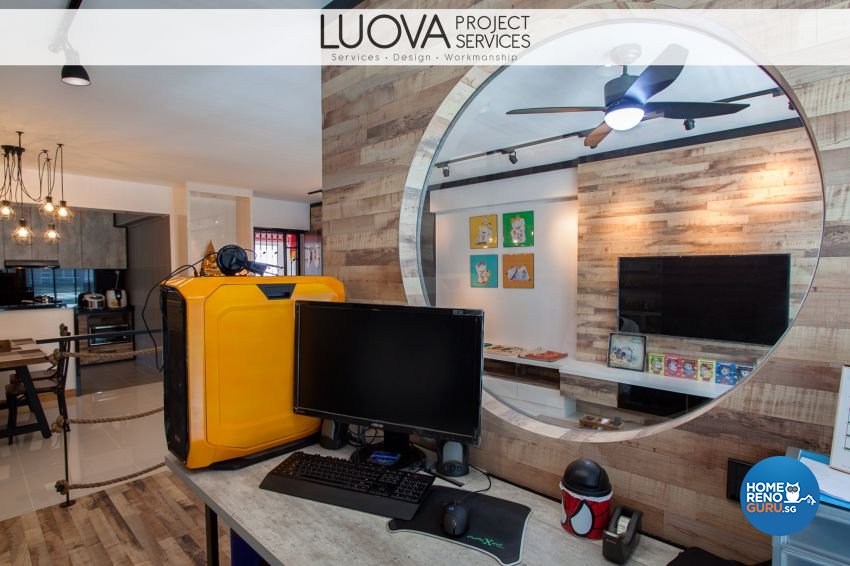 Industrial, Rustic, Scandinavian Design - Living Room - HDB 5 Room - Design by Luova Project Services
