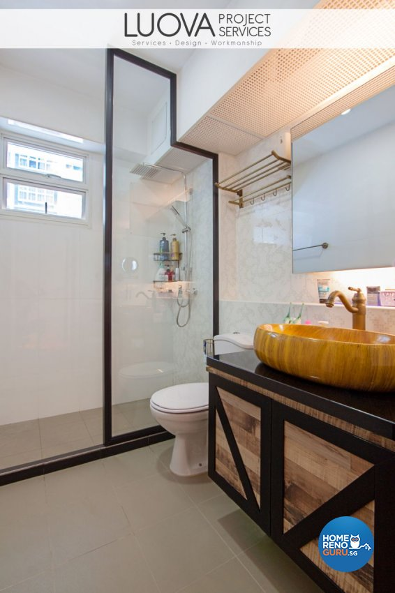 Industrial, Rustic, Scandinavian Design - Bathroom - HDB 5 Room - Design by Luova Project Services