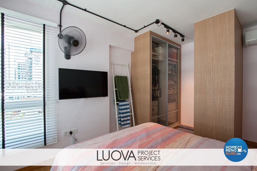 Industrial, Rustic, Scandinavian Design - Bedroom - HDB 5 Room - Design by Luova Project Services