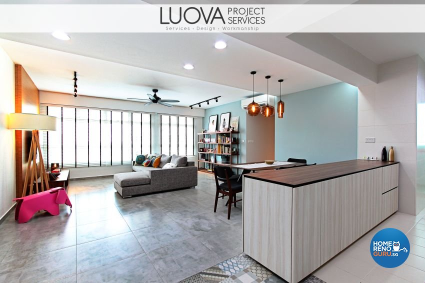 Eclectic, Scandinavian Design - Living Room - HDB 5 Room - Design by Luova Project Services