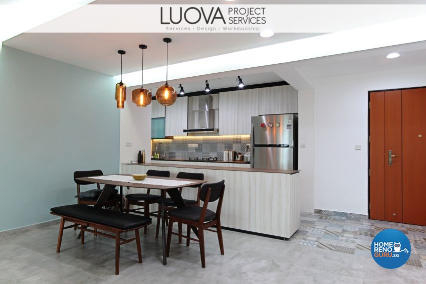 Eclectic, Scandinavian Design - Dining Room - HDB 5 Room - Design by Luova Project Services