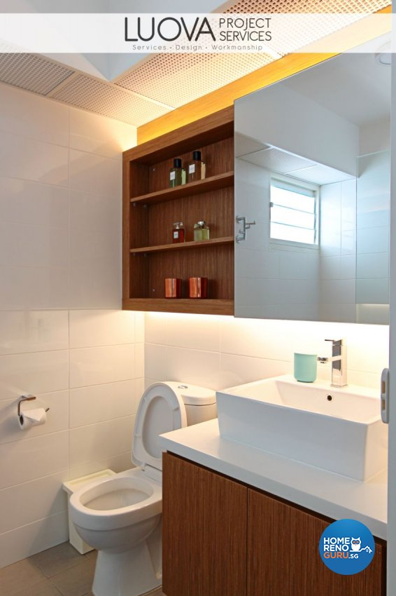 Eclectic, Scandinavian Design - Bathroom - HDB 5 Room - Design by Luova Project Services