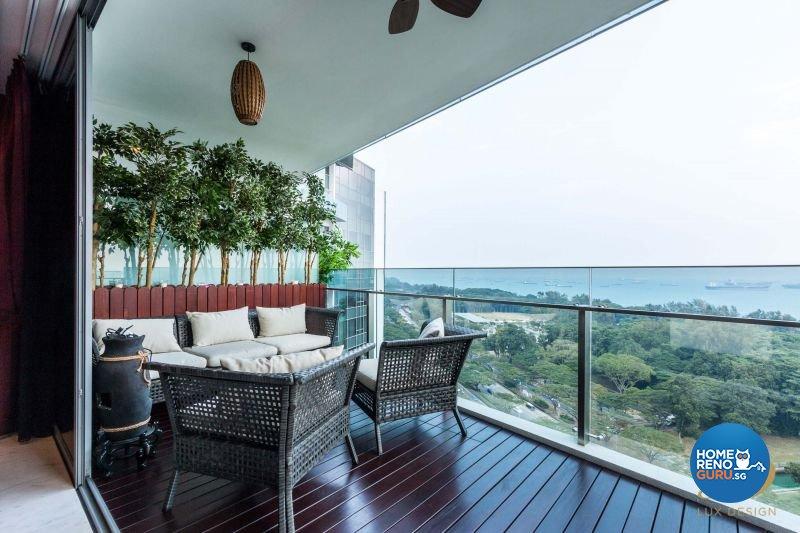 Classical, Modern Design - Balcony - Condominium - Design by Lux Design Pte Ltd