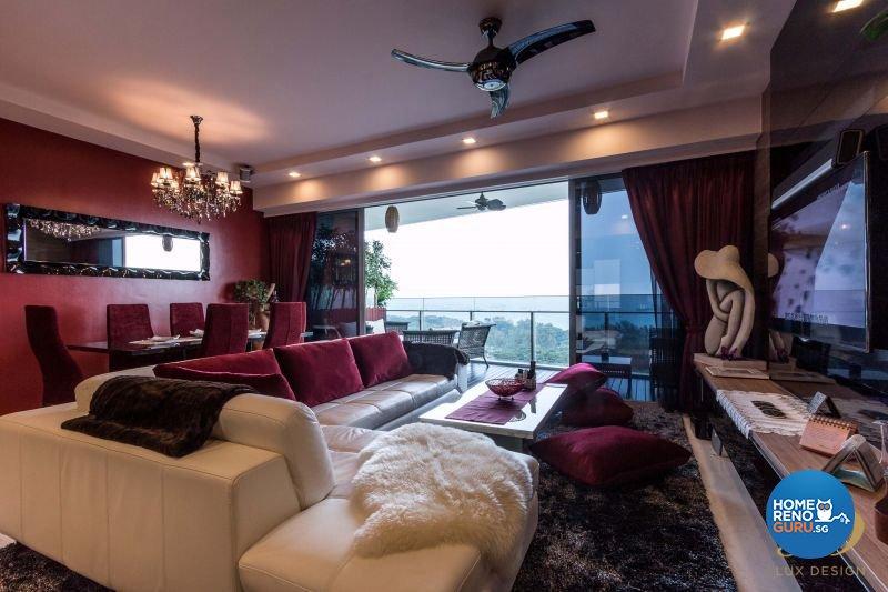 Classical, Modern Design - Living Room - Condominium - Design by Lux Design Pte Ltd