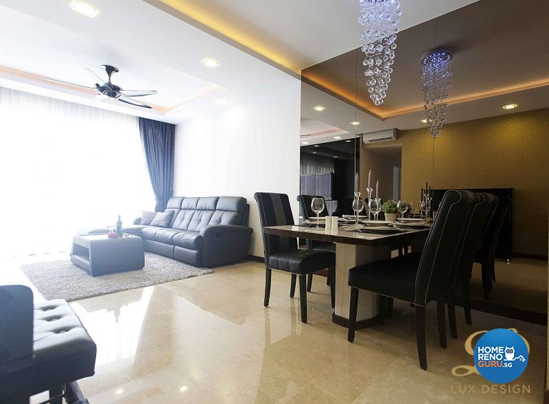 Classical, Contemporary, Modern Design - Living Room - Condominium - Design by Lux Design Pte Ltd