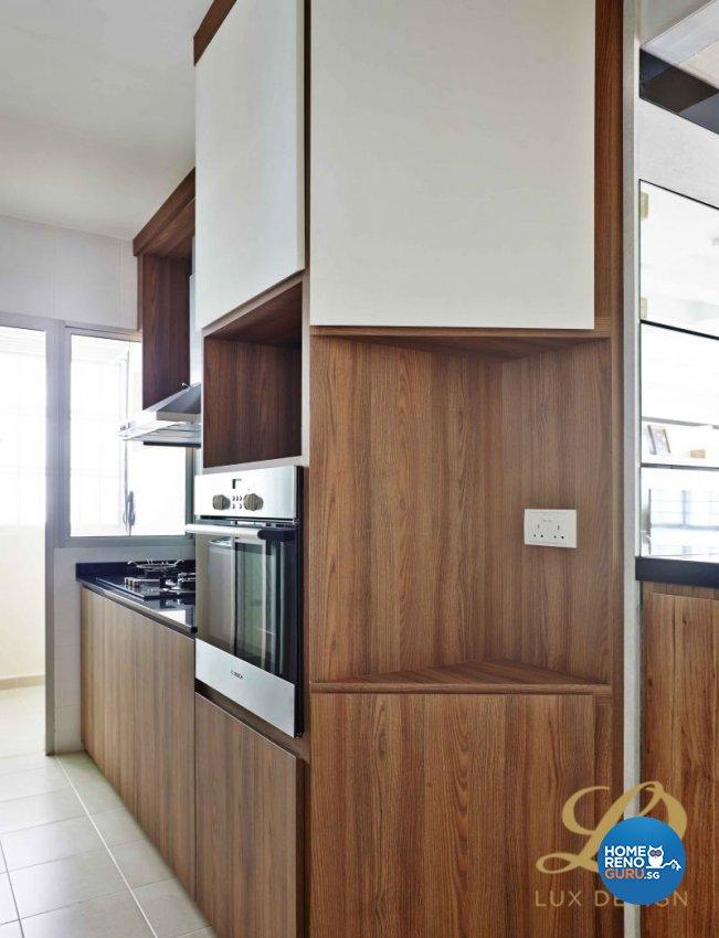 Contemporary, Modern, Scandinavian Design - Kitchen - HDB 4 Room - Design by Lux Design Pte Ltd