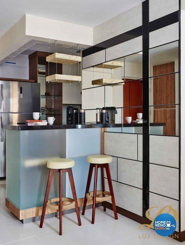 Contemporary, Modern, Scandinavian Design - Dining Room - HDB 4 Room - Design by Lux Design Pte Ltd