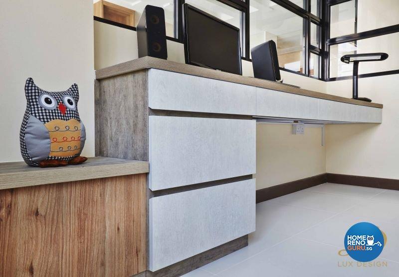 Contemporary, Modern, Scandinavian Design - Study Room - HDB 4 Room - Design by Lux Design Pte Ltd