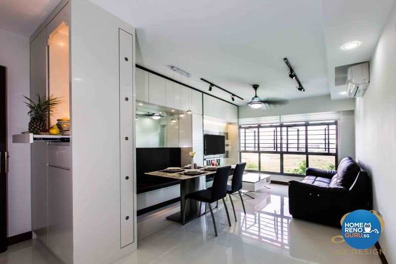 Contemporary, Modern Design - Living Room - HDB 4 Room - Design by Lux Design Pte Ltd
