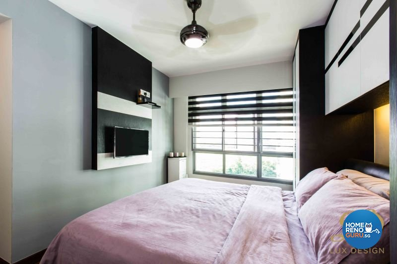 Contemporary, Modern Design - Bedroom - HDB 4 Room - Design by Lux Design Pte Ltd