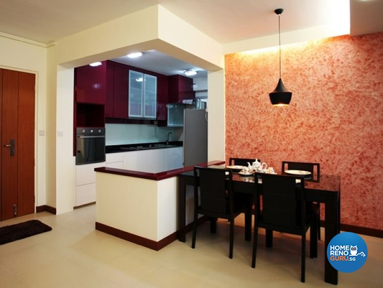 Modern, Retro Design - Dining Room - HDB 4 Room - Design by Lux Design Pte Ltd