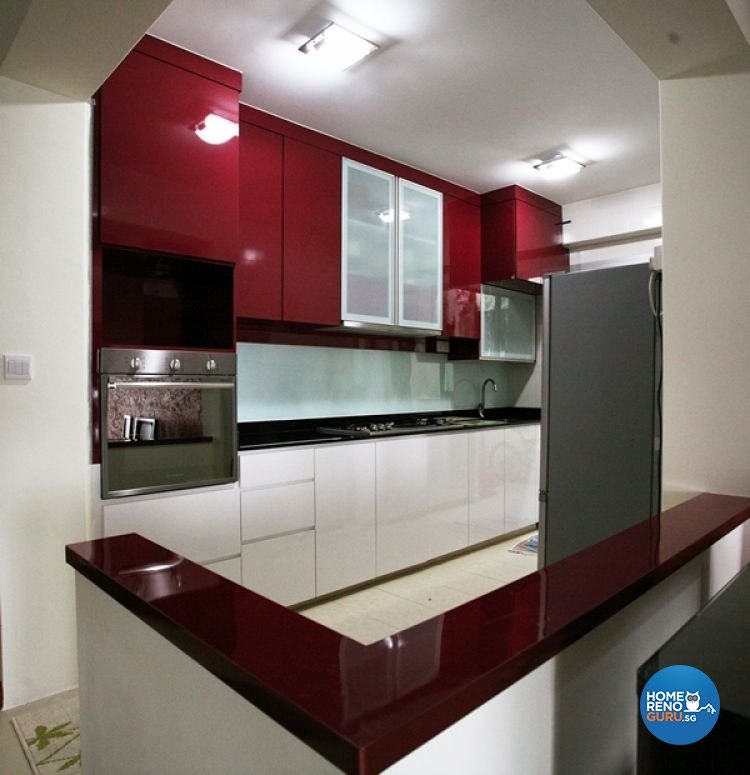 Modern, Retro Design - Kitchen - HDB 4 Room - Design by Lux Design Pte Ltd