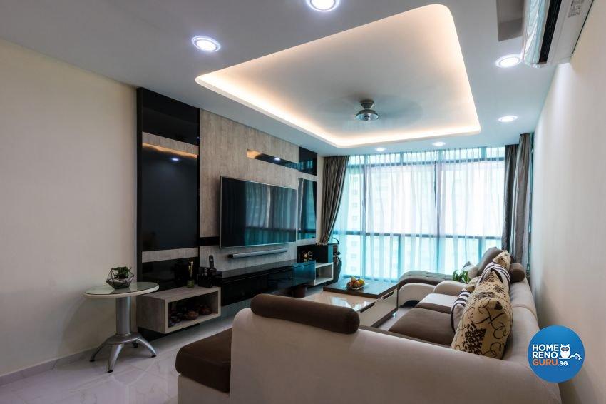 Modern Design - Living Room - HDB 5 Room - Design by Lux Design Pte Ltd