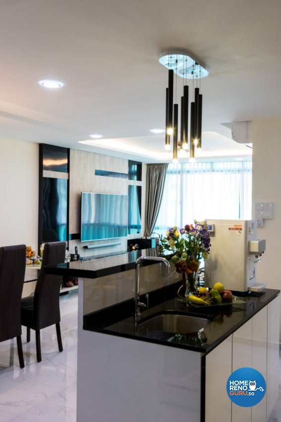 Modern Design - Dining Room - HDB 5 Room - Design by Lux Design Pte Ltd
