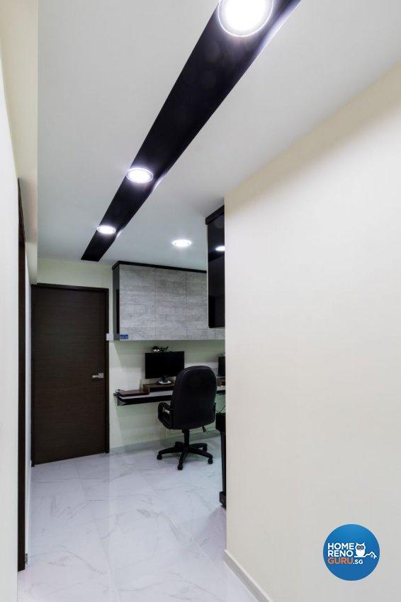 Modern Design - Study Room - HDB 5 Room - Design by Lux Design Pte Ltd