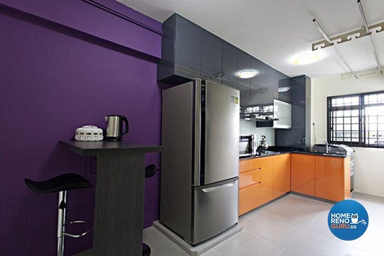 Contemporary, Modern Design - Kitchen - HDB 4 Room - Design by Lux Design Pte Ltd