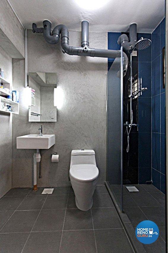 Contemporary, Modern Design - Bathroom - HDB 4 Room - Design by Lux Design Pte Ltd