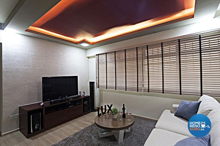 Contemporary, Modern Design - Living Room - HDB 4 Room - Design by Lux Design Pte Ltd