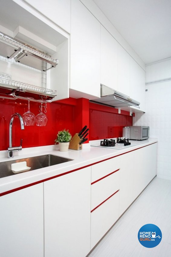 Contemporary, Modern Design - Kitchen - HDB 4 Room - Design by Lux Design Pte Ltd