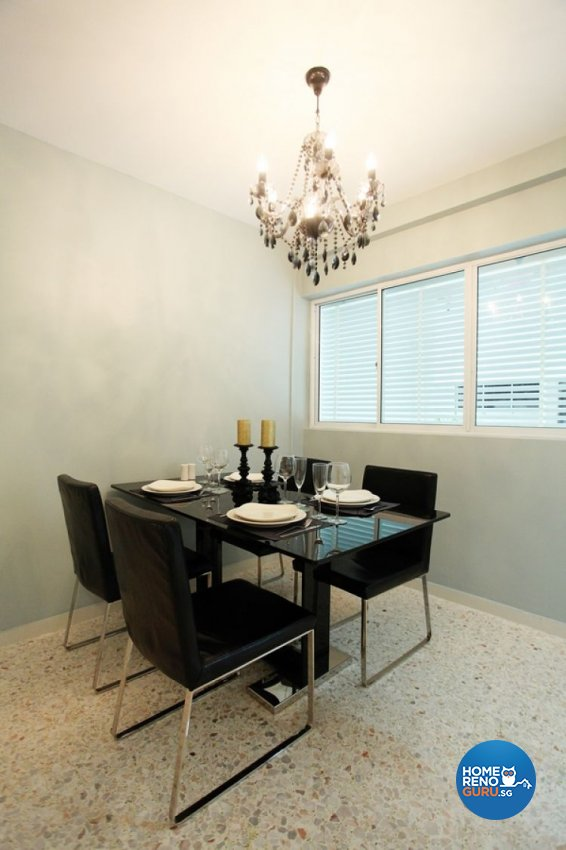 Contemporary, Modern Design - Dining Room - HDB 4 Room - Design by Lux Design Pte Ltd