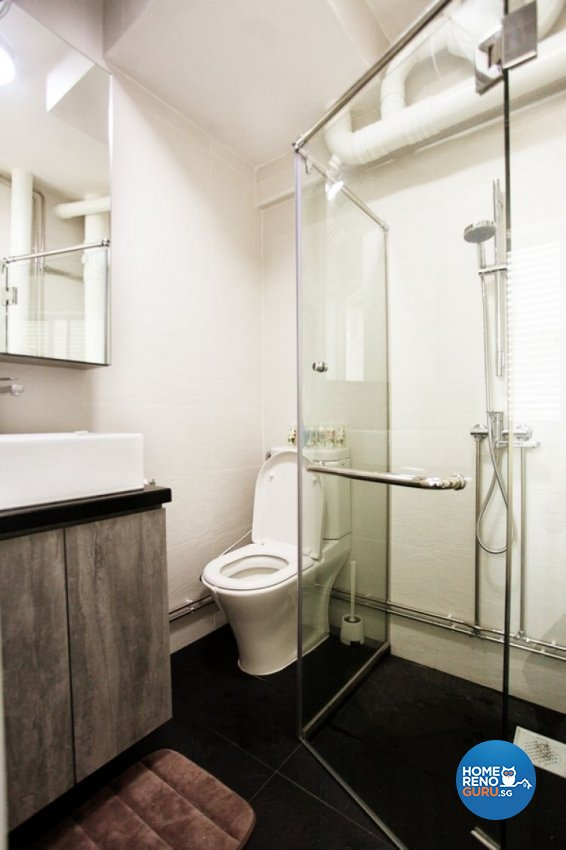 Contemporary, Modern Design - Bathroom - HDB 4 Room - Design by Lux Design Pte Ltd
