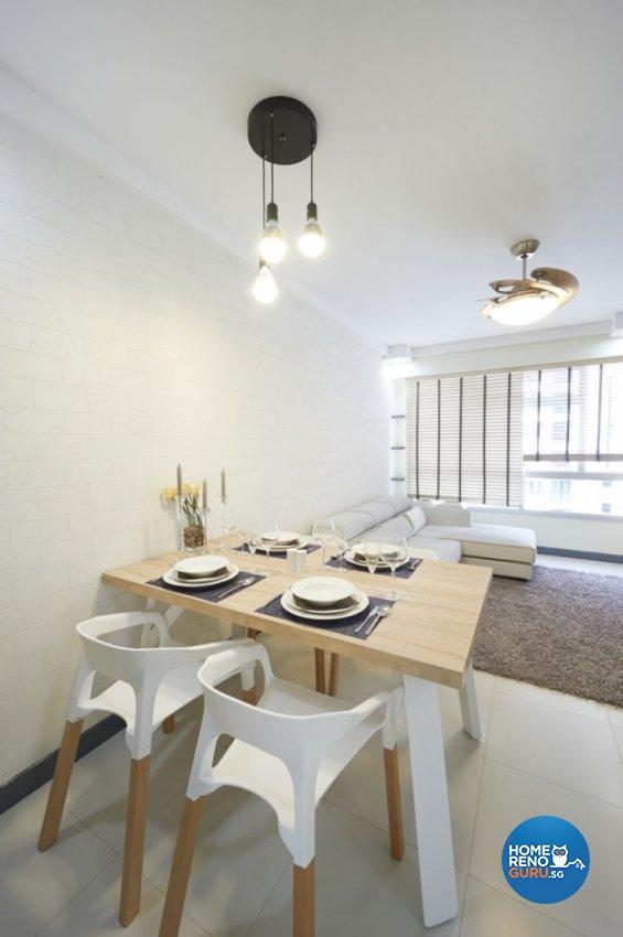 Minimalist, Modern, Scandinavian Design - Dining Room - HDB 4 Room - Design by Lux Design Pte Ltd