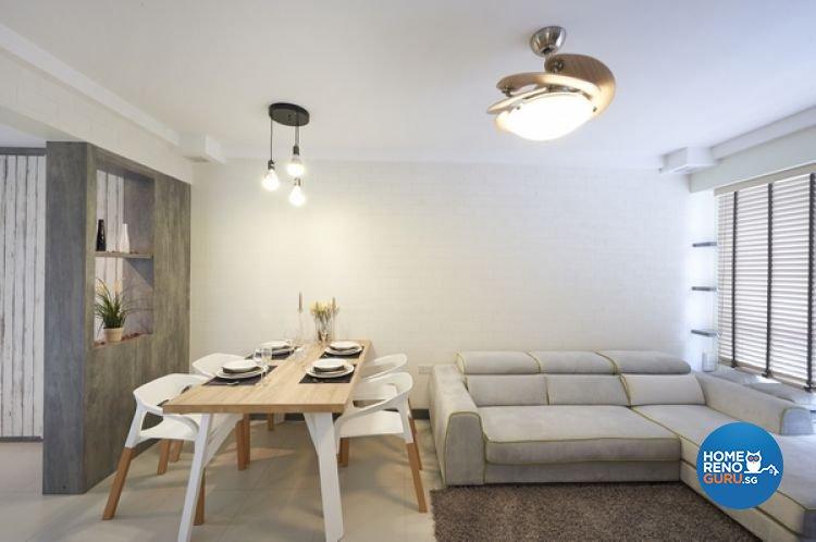 Minimalist, Modern, Scandinavian Design - Living Room - HDB 4 Room - Design by Lux Design Pte Ltd