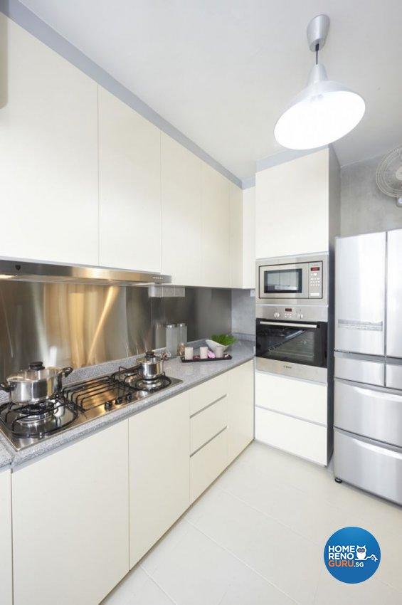 Minimalist, Modern, Scandinavian Design - Kitchen - HDB 4 Room - Design by Lux Design Pte Ltd