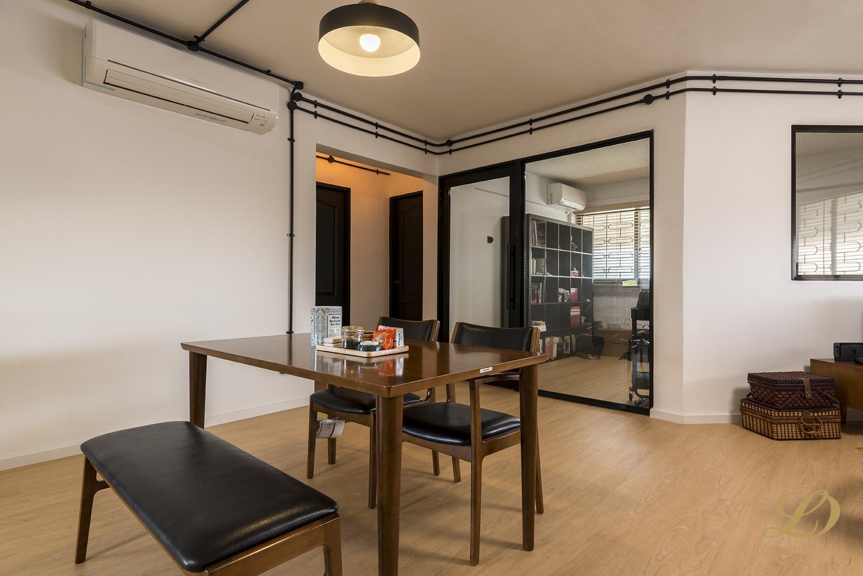 Industrial, Scandinavian Design - Dining Room - HDB 4 Room - Design by Lux Design Pte Ltd