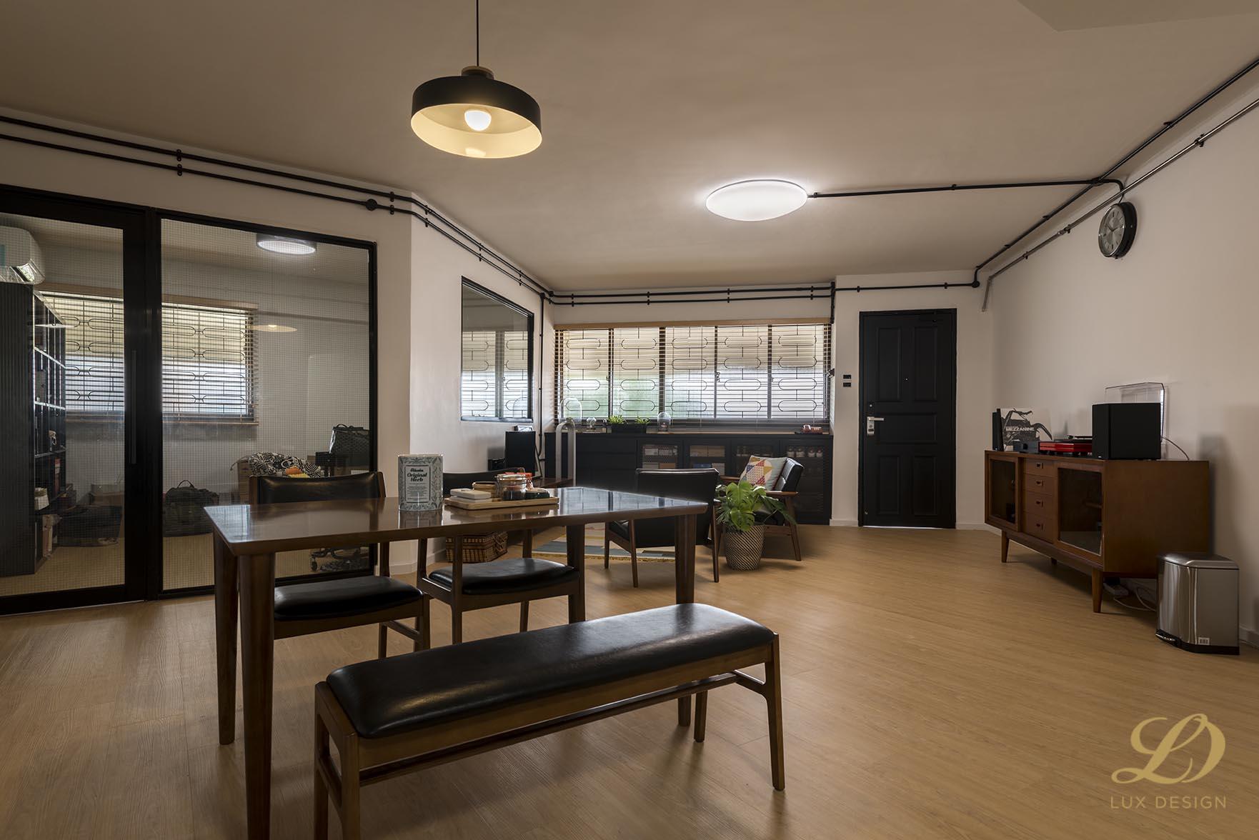 Industrial, Scandinavian Design - Living Room - HDB 4 Room - Design by Lux Design Pte Ltd