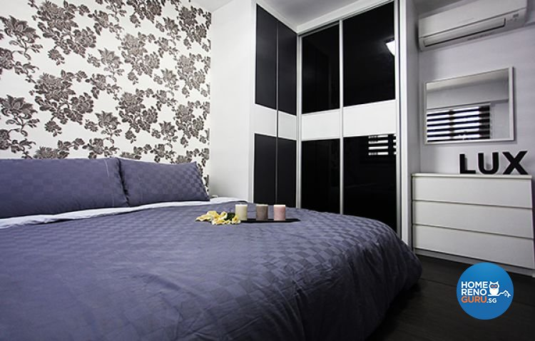 Contemporary, Modern Design - Bedroom - HDB 4 Room - Design by Lux Design Pte Ltd