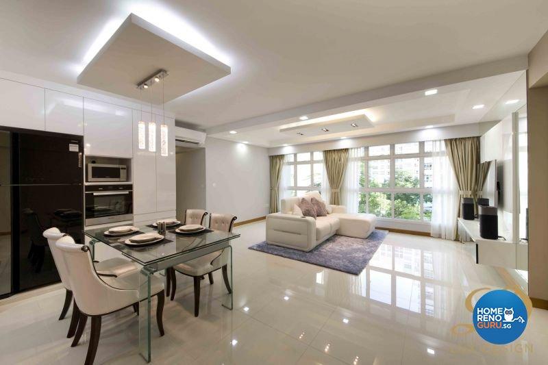 Contemporary, Modern Design - Living Room - HDB 5 Room - Design by Lux Design Pte Ltd