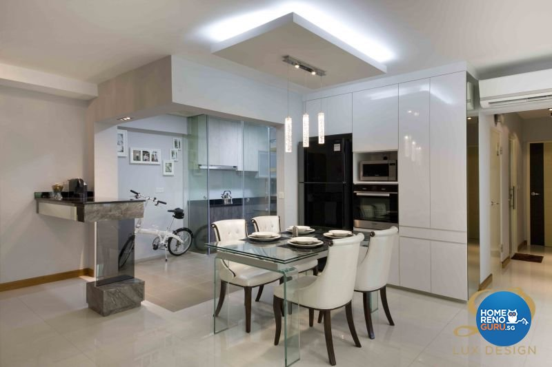 Contemporary, Modern Design - Dining Room - HDB 5 Room - Design by Lux Design Pte Ltd