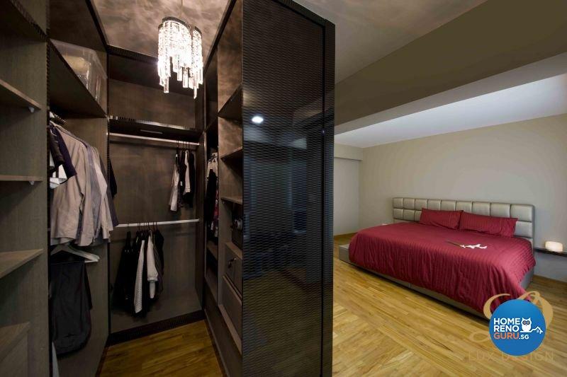 Contemporary, Modern Design - Bedroom - HDB 5 Room - Design by Lux Design Pte Ltd