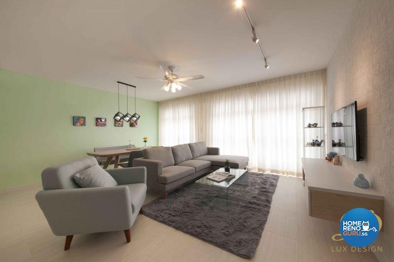 Contemporary, Scandinavian Design - Living Room - HDB 5 Room - Design by Lux Design Pte Ltd