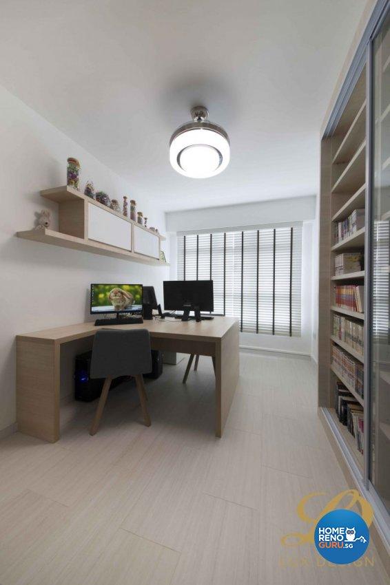 Contemporary, Scandinavian Design - Study Room - HDB 5 Room - Design by Lux Design Pte Ltd