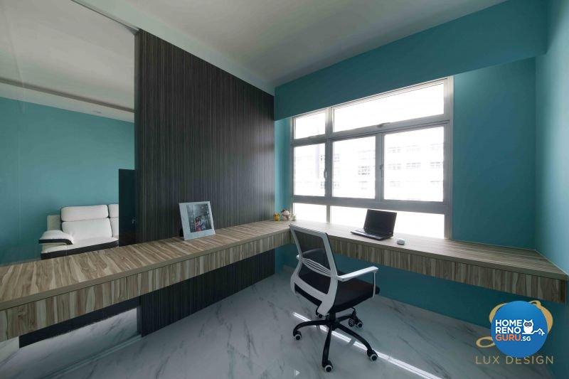 Eclectic, Modern, Victorian Design - Study Room - HDB 5 Room - Design by Lux Design Pte Ltd
