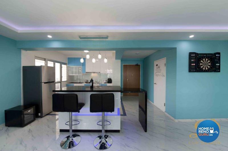 Eclectic, Modern, Victorian Design - Kitchen - HDB 5 Room - Design by Lux Design Pte Ltd