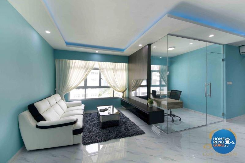 Eclectic, Modern, Victorian Design - Living Room - HDB 5 Room - Design by Lux Design Pte Ltd