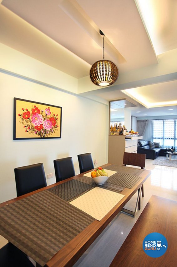 Contemporary, Country, Modern Design - Dining Room - HDB 5 Room - Design by Lux Design Pte Ltd