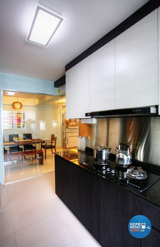 Contemporary, Country, Modern Design - Kitchen - HDB 5 Room - Design by Lux Design Pte Ltd