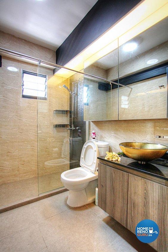 Contemporary, Country, Modern Design - Bathroom - HDB 5 Room - Design by Lux Design Pte Ltd