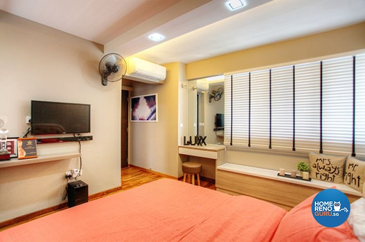 Contemporary, Country, Modern Design - Bedroom - HDB 5 Room - Design by Lux Design Pte Ltd