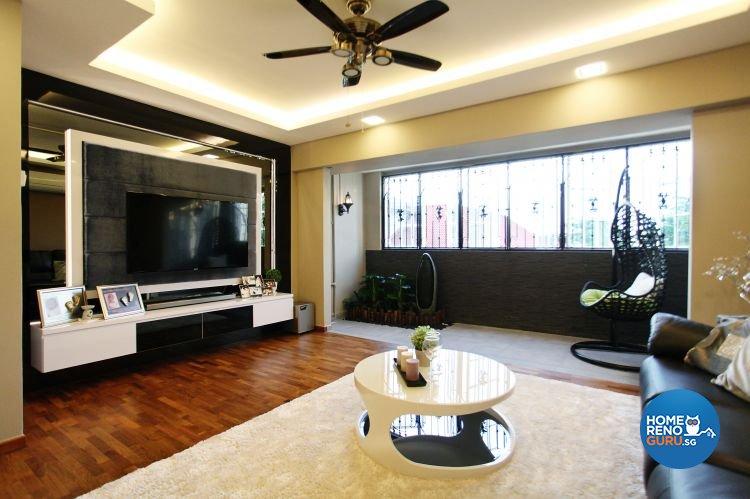 Contemporary, Modern Design - Living Room - HDB Executive Apartment - Design by Lux Design Pte Ltd