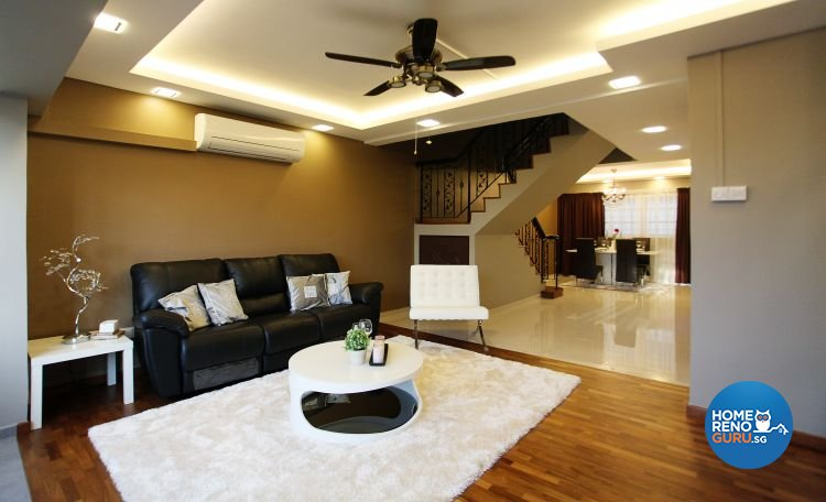 Contemporary, Modern Design - Living Room - HDB Executive Apartment - Design by Lux Design Pte Ltd