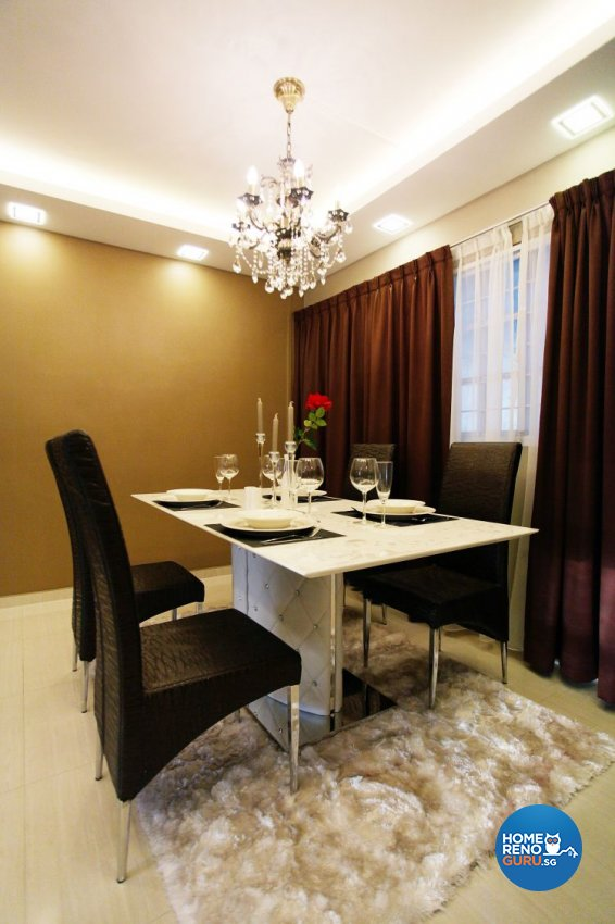 Contemporary, Modern Design - Dining Room - HDB Executive Apartment - Design by Lux Design Pte Ltd