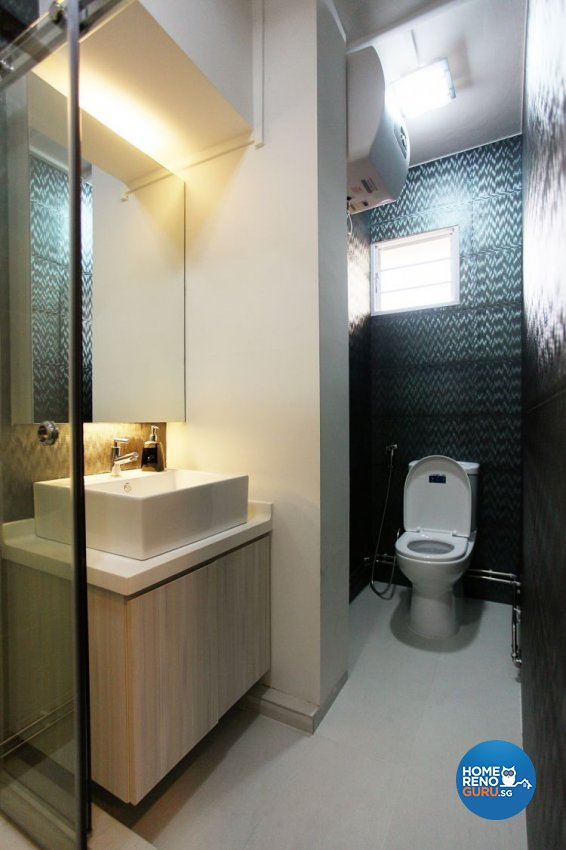 Contemporary, Modern Design - Bathroom - HDB Executive Apartment - Design by Lux Design Pte Ltd