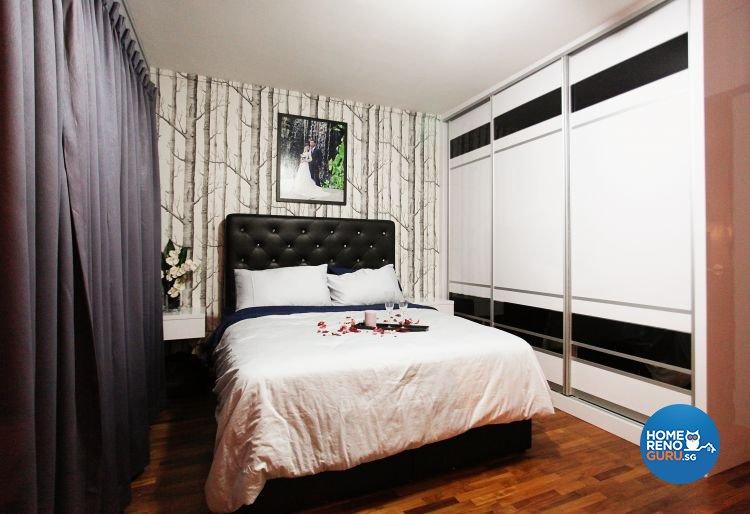 Contemporary, Modern Design - Bedroom - HDB Executive Apartment - Design by Lux Design Pte Ltd